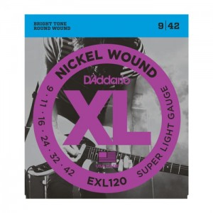Struny D'Addario EXL120 Nickel Wound Super Light 9-42