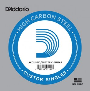 Struna pojedyncza D'Addario Single Plain Steel .022