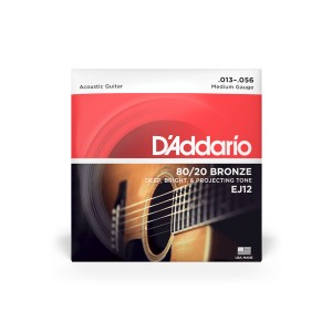 Struny D'Addario EJ12 80/20 Bronze Acoustic Guitar Strings, Medium, 13-56