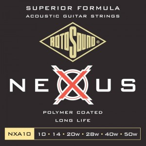 Struny do gitary akustycznej Rotosound Nexus Coated phosphor bronze 10-50 NXA10