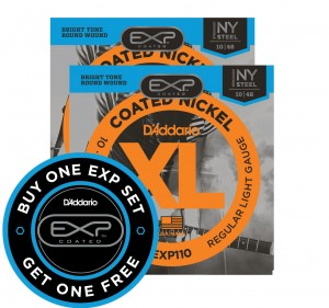 2 x Struny D'Addario EXP110 Coated Nickel Wound Light 10-46