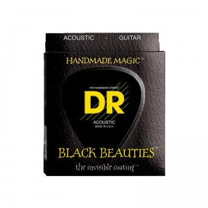 Struny DR Black Beauties Coated Acoustic Phosphor Bronze 10-48 (BKA-10)