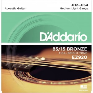 Struny D'Addario EZ920 Great American Bronze Medium Light 12-54