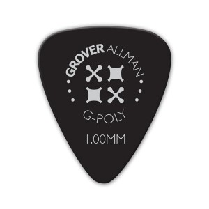 Kostka gitarowa Grover Allman G-Poly  Black  1.00mm
