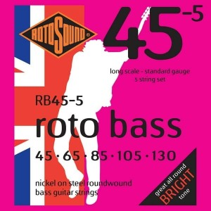 Struny Rotosound Roto Bass Nickel on Steel 45-130 (RB45-5)