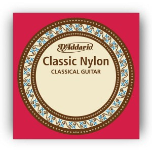 Struna w srebrnej owijce E6 do gitary klasycznej D'Addario Classic Nylon Normal Tension Silverwound 1.09mm