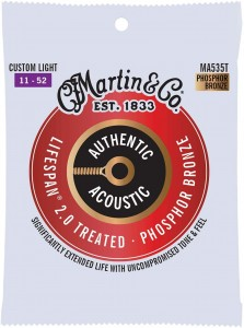 Struny Martin Authentic Acoustic Lifespan 2.0 Treated Phosphor Bronze 11-52 (MA535T)