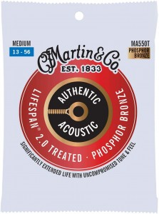 Struny Martin Authentic Acoustic Lifespan 2.0 Treated Phosphor Bronze 13-56 (MA550T)