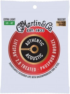 Struny Martin Authentic Acoustic Lifespan 2.0 Treated Phosphor Bronze 10-47 (MA530T)