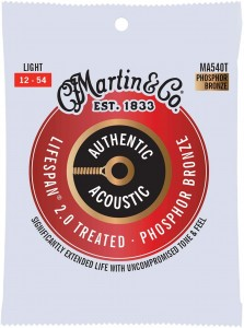 Struny Martin Authentic Acoustic Lifespan 2.0 Treated Phosphor Bronze 12-54 (MA540T)