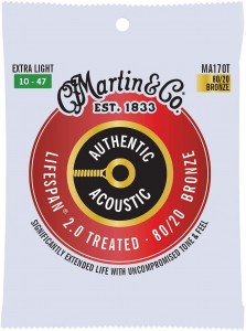 Struny Martin Authentic Acoustic Lifespan 2.0 Treated 80/20 Bronze 10-47 (MA170T)