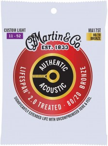 Struny Martin Authentic Acoustic Lifespan 2.0 Treated 80/20 Bronze 11-52 (MA175T)
