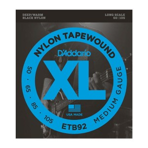 Struny D'Addario ETB92 Tapewound Bass Medium Long Scale 50-105
