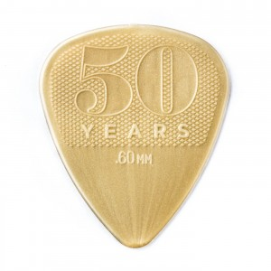 Kostka gitarowa Dunlop 50th Anniversary Gold Nylon .60mm