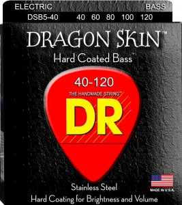 Struny DR Dragon Skin Hard Coated Bass 5-string 40-120 (DSB5-40)