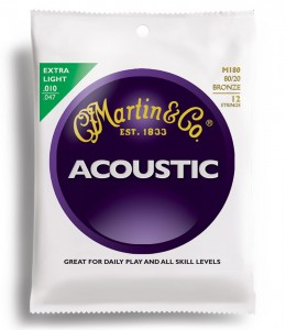 Struny Martin Acoustic 80/20 Bronze Extra Light 12-strings 10-47 M180