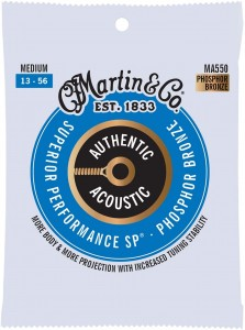Struny Martin Authentic Acoustic SP Phosphor Bronze 13-56 (MA550)