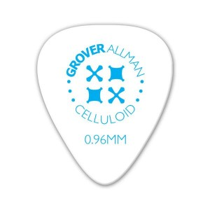 Kostka gitarowa Grover Allman Celluloid Pro White 0.96mm