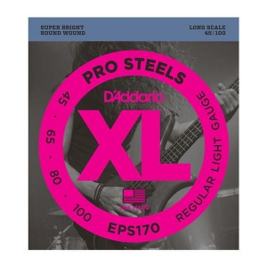 Struny D'Addario EPS170 ProSteels Bass Light  Long Scale 45-100