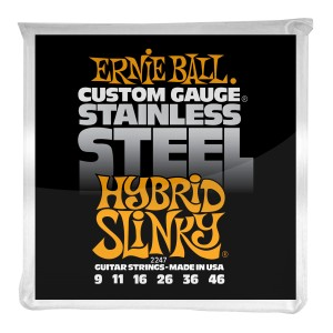 Struny Ernie Ball Regular Slinky Stainless Steel Wound 09-46 (2247)