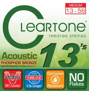 Struny Cleartone Acoustic Phosphor Bronze Medium 13-56