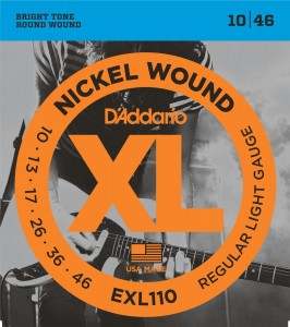 Struny D'Addario EXL110 Nickel Wound Regular Light 10-46