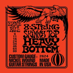 Struny Ernie Ball 8-String Skinny Top Heavy Bottom Nickel Wound 9-80 (2624)