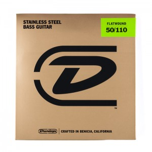 Struny Dunlop Flatwound Stainless Steel 50-110 DBFS50110
