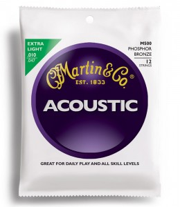 Struny Martin Acoustic Phosphor Bronze Extra Light 12-strings 10-47 M500