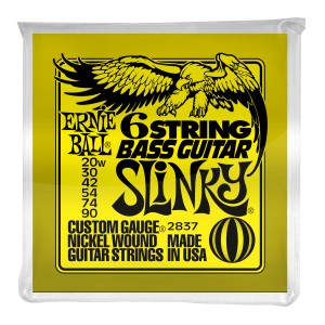 Struny Ernie Ball Slinky 5/8 Scale 6-string Bass Nickel Wound 20-90 (2837)