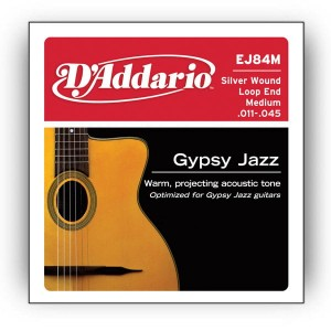 Struny D'Addario EJ84M Gypsy Jazz, Loop End, Medium, 11-45