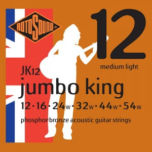 Struny Rotosound Jumbo King Phosphor Bronze Acoustic Medium Light 12-54 (JK12)