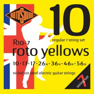 Struny Rotosound Nickel on Steel Electric Regular 7-strings 10-56 (R10-7)