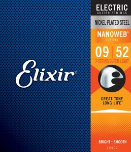 Struny Elixir NanoWeb 9-52 7-String Super Light (12007)