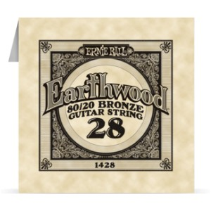 Struna .028 owijana Ernie Ball Earthwood 80/20 Bronze Acoustic (1428)