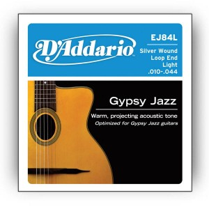 Struny D'Addario EJ84L Gypsy Jazz, Loop End, Light, 10-44