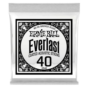 Struna Ernie Ball Everlast Coated 80/20 Bronze Acoustic .040