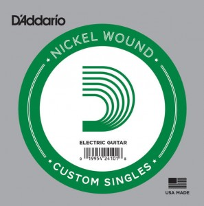 Struna pojedyncza D'Addario Single Nickel Wound .074