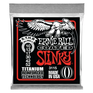 Struny Ernie Ball Coated Titanium RPS Top Heavy Bottom Slinky 10-52 (3115)