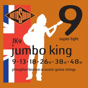 Struny Rotosound Jumbo King Phosphor Bronze Acoustic Super Light 9-48 (JK9)