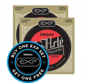 2 x Struny D'Addario Coated Normal Tension EXP45