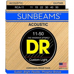Struny DR Sunbeams™ Acoustic Phosphor Bronze Custom Light 11-50 (RCA-11)
