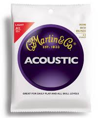Struny Martin Acoustic 80/20 Bronze Light 12-strings 12-54 M190