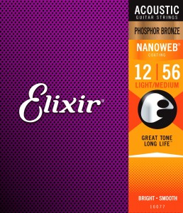 Struny Elixir NanoWeb Phosphor Bronze 12-56 Light-Medium (16077)