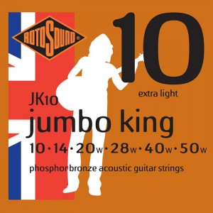 Struny Rotosound Jumbo King Phosphor Bronze Acoustic Extra Light 10-50 (JK10)
