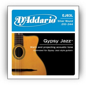 Struny D'Addario EJ83L Gypsy Jazz, Ball End, Light, 10-44