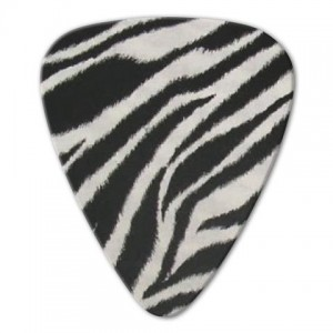 Kostka gitarowa Grover Allman Animal Zebra .80mm