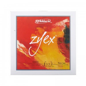 Struny do kontrabasu D'Addario Zyex 3/4 Medium Tension DZ610