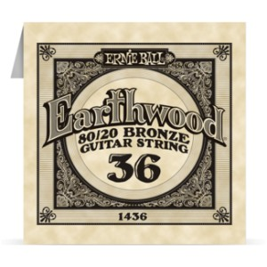 Struna .036 owijana Ernie Ball Earthwood 80/20 Bronze Acoustic (1436)