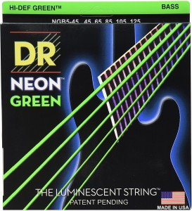 Struny DR Neon™ Hi-Def Green Bass K3 Coating 45-125 5-string (NGB5-45)
